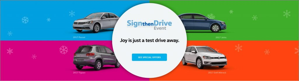 Lease a Volkswagen during the Sign then Drive at Mankato VW